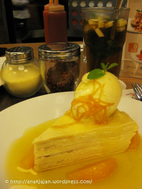 New Menu Crepes Cake at Pancious