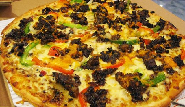 Double Decker Pizza at Domino's