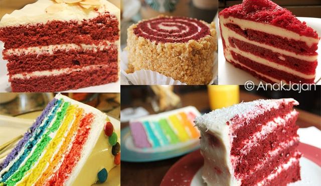 Red Velvet & Rainbow Cakes at Jakarta Part 3