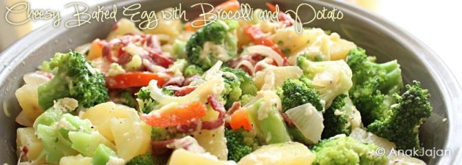 Easy Cook: Cheesy Baked Egg with Brocolli and Potato