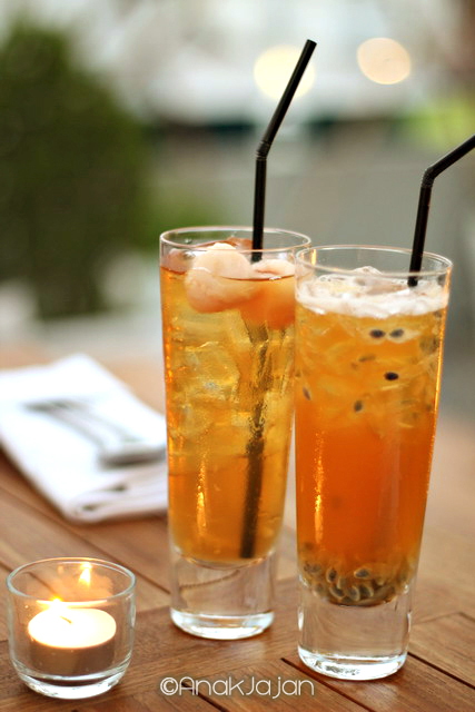 Lychee and Passion Fruit Iced Tea IDR 40k each