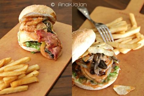 Gastro Burger IDR 59k, Classic Burger IDR 53k