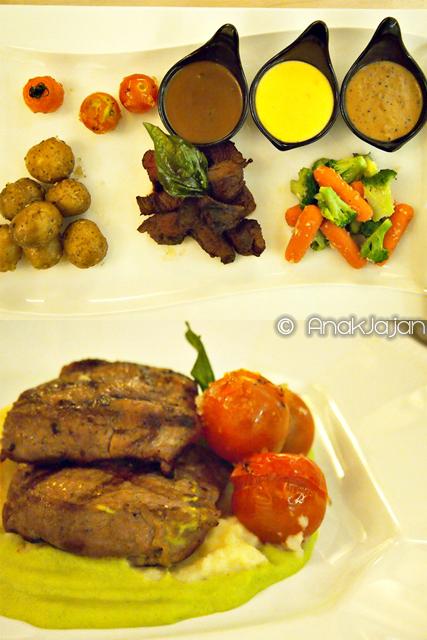 Beef Fondue IDR 119k, Garden Tenderloin Steak IDR 99k