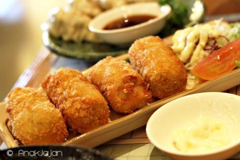 Croquette Cheese, Gyoza IDR 23k
