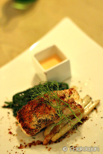 Crusted Chilean Sea bass IDR 395k