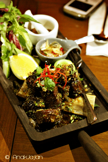 Twice- Cooked Beef Short Ribs with Sweet Fish Sauce, cucumber and Nam Pla Prik