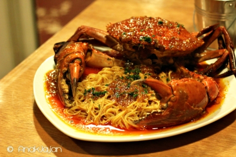 Angel Hair Crab IDR 130k (Seasoning : Queen Mary Sweet Chili Sauce)