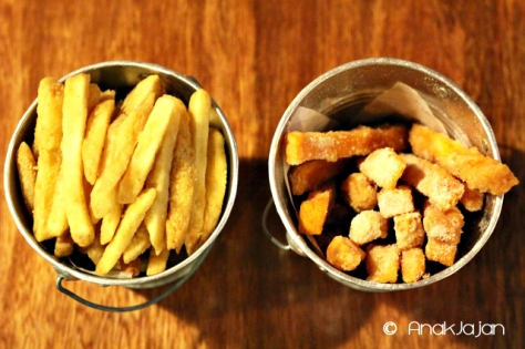 Fresh Cut Fries IDR 25k & Sweet Potato Fries IDR 25k