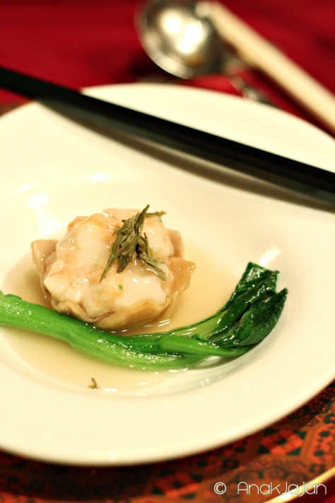 Steamed Bai Ling Mushroom and Seafood with Rain Flower Tea Sauce IDR 78k ++