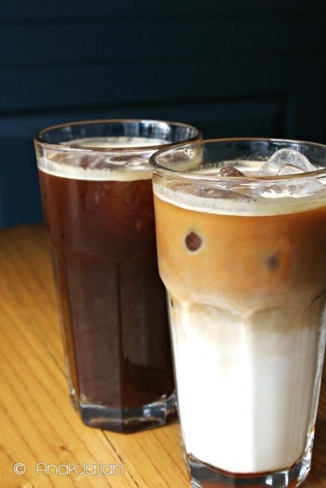 Americano IDR 25k,  Iced Latte with Caramel IDR 35k