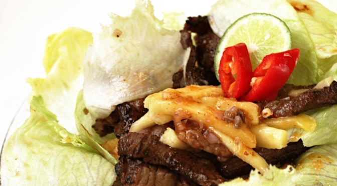 [Easycook – Recipe] Grilled Beef Mango Salad