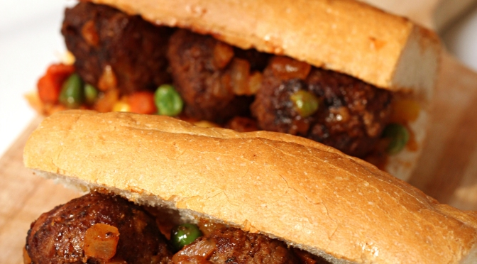 RECIPE: Masaman Curry Beef Meatball Sandwich