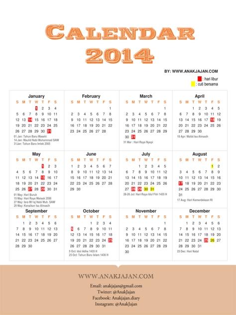 kalender indonesia 2014 hari libur