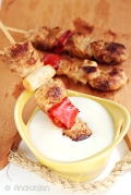 Grilled Curry Chicken Skewer with Yoghurt Sauce