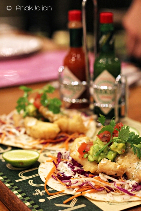 Baja Fried Fish Tacos with Avocado & Homemade Salsa IDR 75k