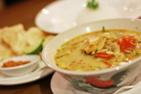 Soto Tangkar with Jasmine Rice IDR 45k