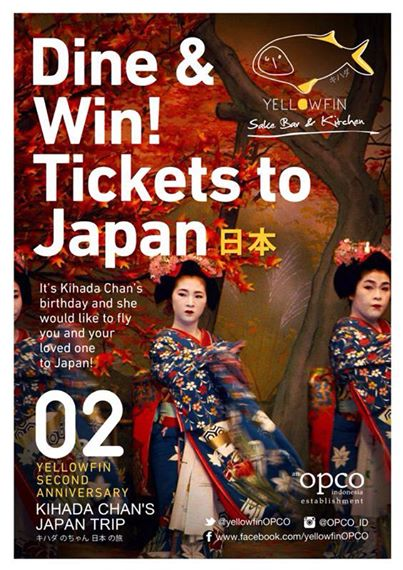 Dine & Win Tickets to Japan