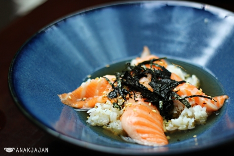 Salmon Dashi Tea Rice IDR 55k