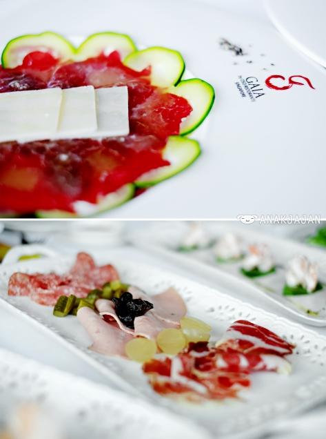 Beef Carpacio, Italian Cold Cuts