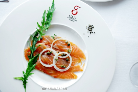 Smoked Salmon Platter with Capers and Sliced Onion