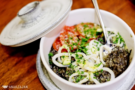 Risotto in Ikasumi Sauce (arrow squid ink) IDR 88k