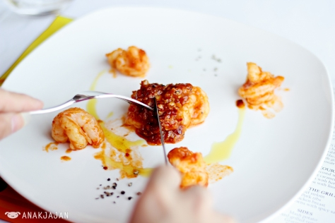 Sautee Prawns with Spicy Sauce