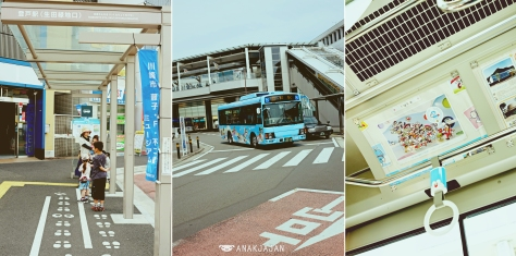 Shuttle bus at Noborito Station