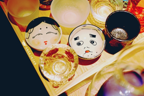 Cute sake glass