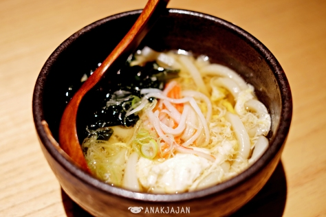 Kanitama Udon IDR 120k (sample portion)