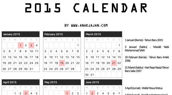 kalender 2015 anakjajan copy. Black Bedroom Furniture Sets. Home Design Ideas