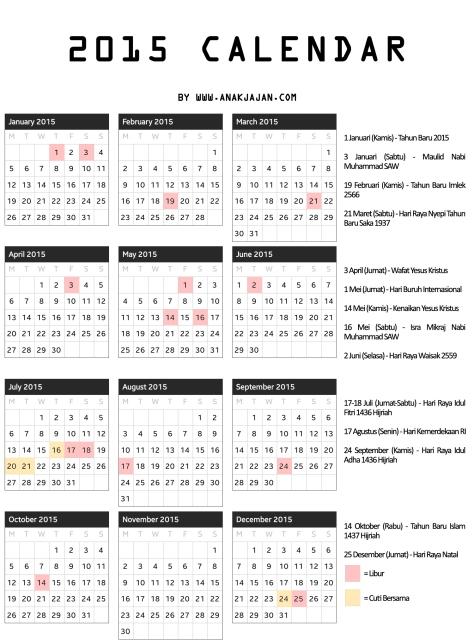Kalender 2015 AnakJajan