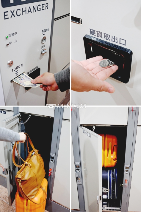 Coin changer, Large locker 500 yen