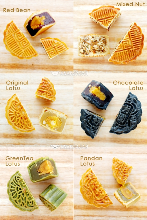 Baked Mooncake Flavors