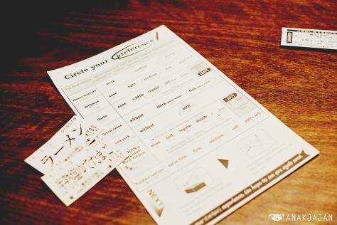Order customize sheet