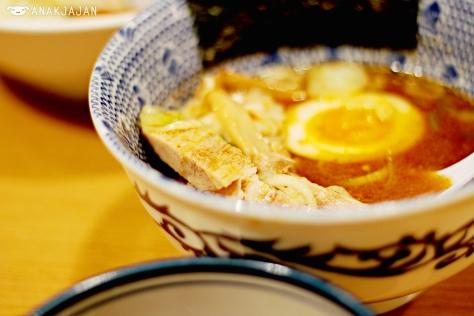 Half size of Chashu Pork Japanese Style Pork Bone Broth Dip Ramen 1.100 yen - Ganja