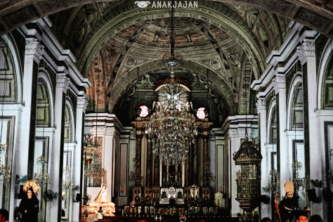 Magnificent details inside St. Agustin Church