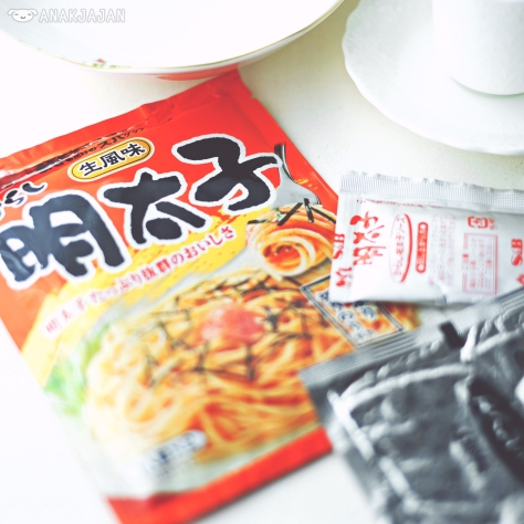 Japanese instant pasta sauce we bought from Japan