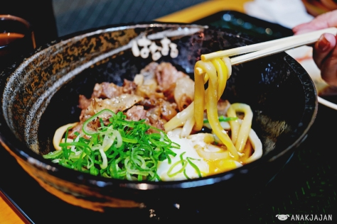 Beef Udon with Egg JPY 400