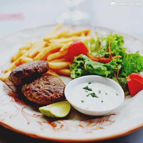 Lamb Kebab with Mint and Yoghurt Sauce IDR 50k