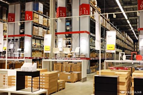 Self service furniture area