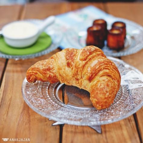 Croissant IDR 15k + Butter IDR 10k