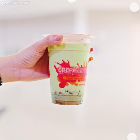 Japanese Matcha Milk Tea IDR 18k