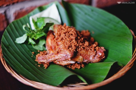 Ayam Goreng IDR 20k or IDR 22k with Sambal Pencit