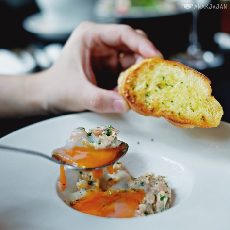 Salmon Tartare, 63C degrees Egg IDR 83k