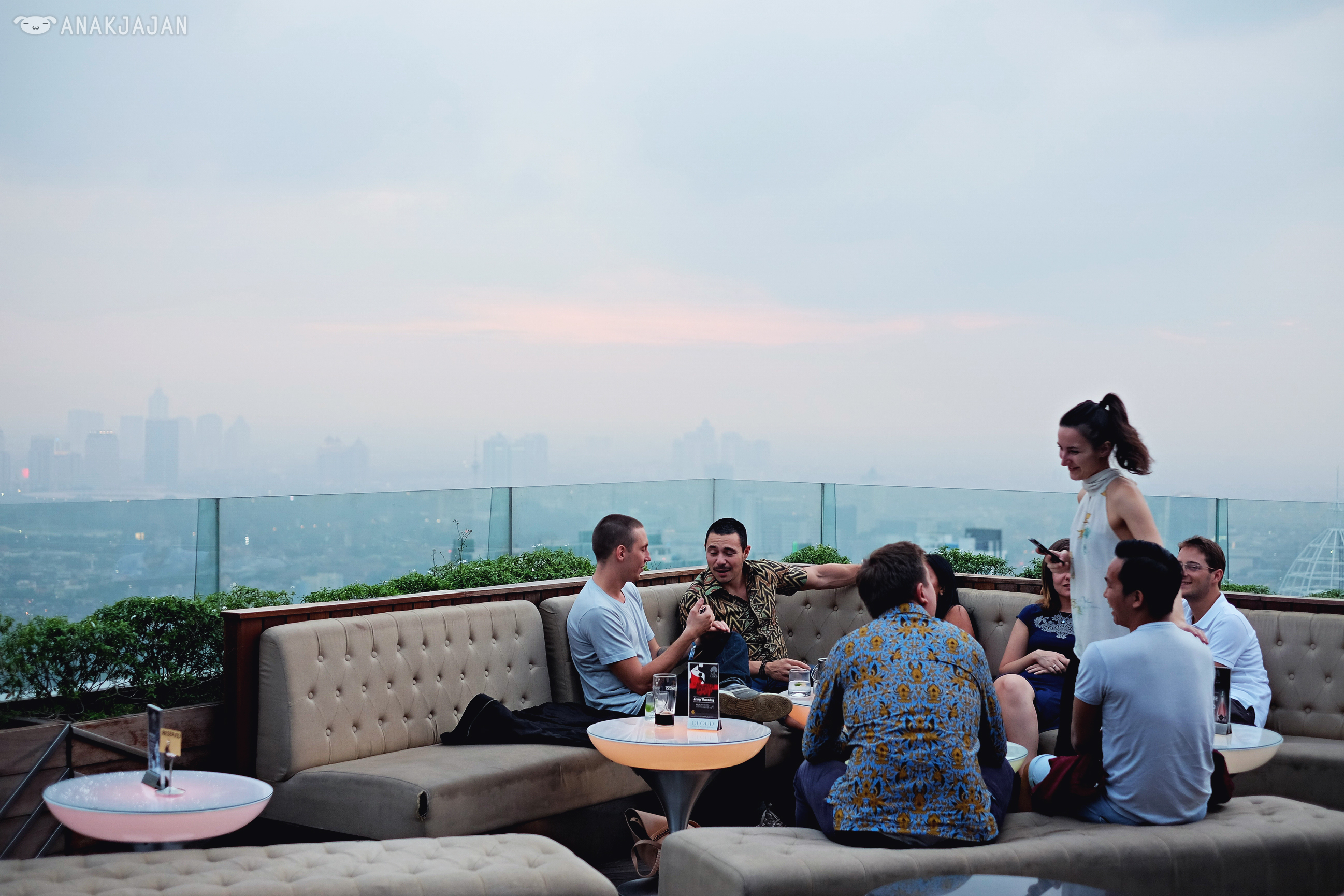 Cloud Lounge Living Room Is Located At Altitude The Plaza Office Tower From Indonesia Called 49th Floor