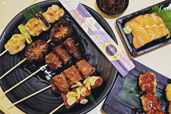 Chicken Leg Teriyaki IDR 15k, Shitake Teriyaki IDR 18k, Beef Asparagus Teriyaki IDR 28k, Beef Enoki Teriyaki IDR 22k, Beef Tenderloin Teriyaki IDR 30k