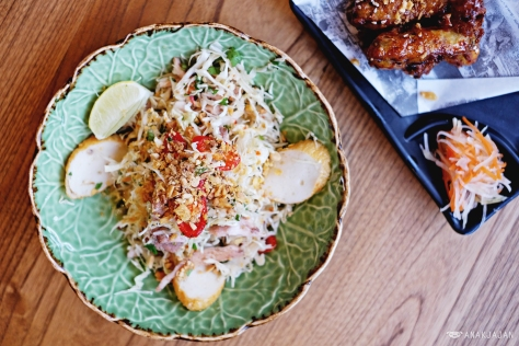 Salad of White Cabbage, Fish Cake, Grilled Chicken, Fresh Herbs, Peanuts IDR 38k