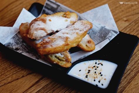 Crispy Fried Banana, Sesame Seed, Coconut Sauce IDR 28k