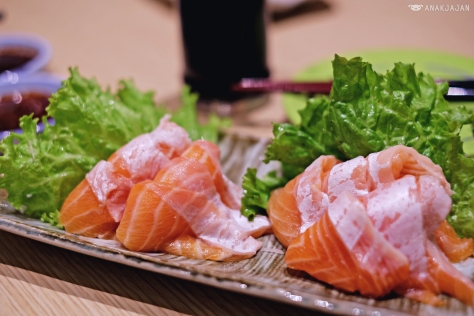 Fatty Salmon Sashimi IDR 33k/ 3 slices