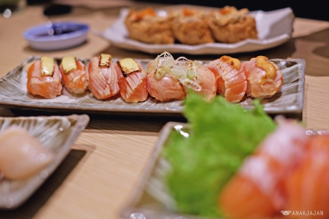 Roasted Salmon with Cheese IDR 12k/ piece, Roasted Fatty Salmon IDR 11k/ piece, Roasted Salmon with Cod Fish IDR 13k/ piece
